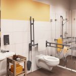 Blick in eines unserer barrierefreien Badezimmer