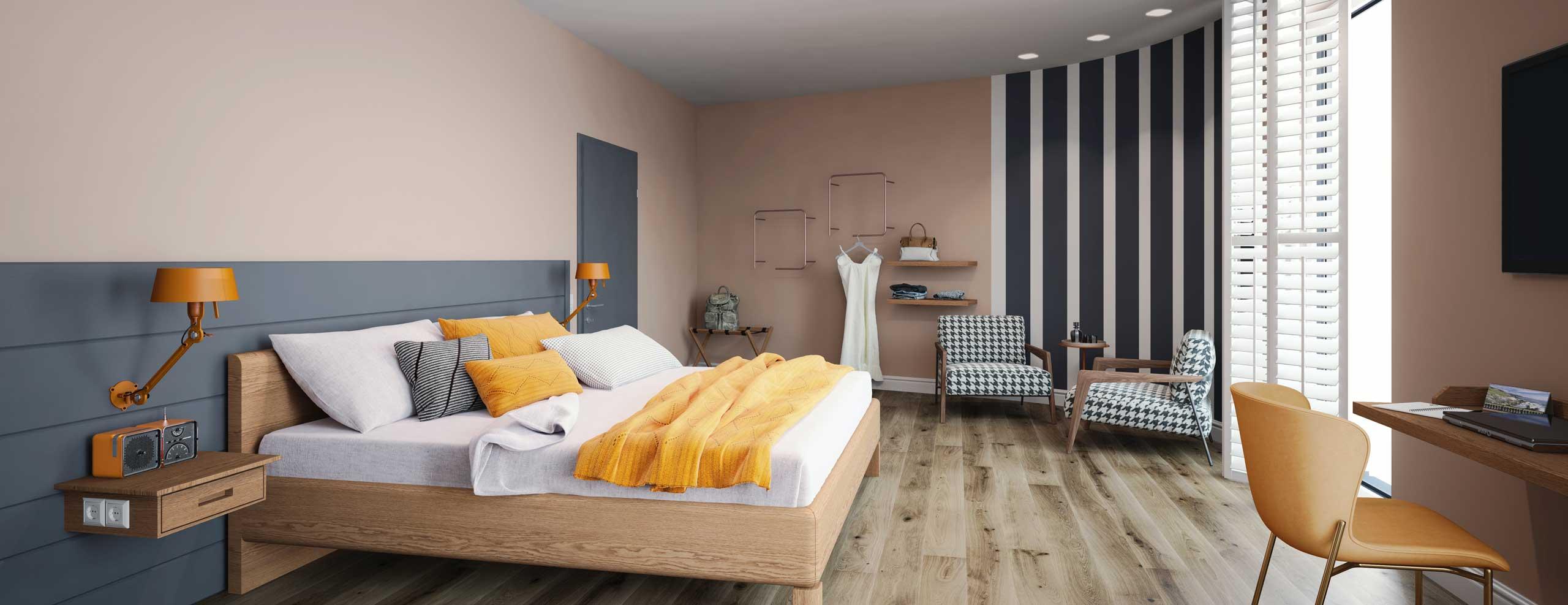 Blick in eines der Komfort-Zimmer des Hotel Neues Pastorat