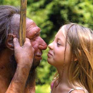 Ein junges Mädchen trifft einen Neanderthaler hautnah