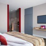 Blick in eines der Familien-Zimmer des Hotel Neues Pastorat